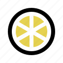 citrus, fruit, healthy, juice, lemon, slice, sour icon