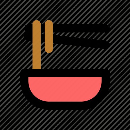 bowl, chinese, chopsticks, noodle, noodles, pasta, soup icon
