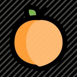 dessert, food, fresh, fruit, healthy, peach, sweet icon