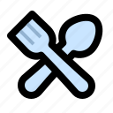 cooking, cutlery, fork, kitchen, restaurant, spoon, utensil