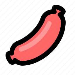 barbecue, bbq, cooking, fastfood, hotdog, sausage, snack icon