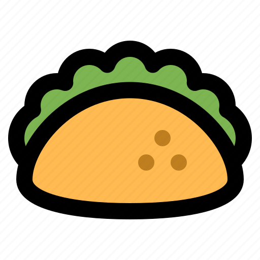 fast, food, latina, meal, mexican, snack, taco icon