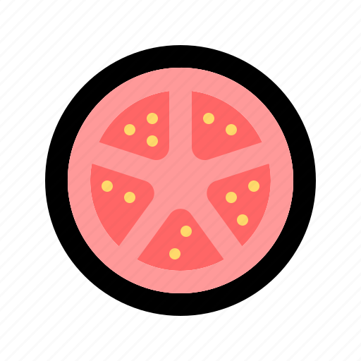 cooking, food, healthy, slice, tomato, vegetable, vegetarian icon