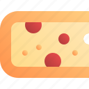 cheddar, cheese, food, slice icon