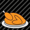 chicken, coocked chicken, cooking, food, kitchen