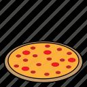 cooking, dessert, food, pizza