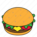 burger, fastfood, food, hambrger, junkfood icon