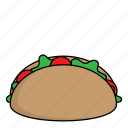dessert, food, meal, taco, tacos