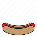food, hotdog, kitchen, meal, restaurant