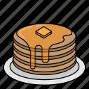 cake, dessert, food, pancake