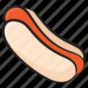 fast food, hotdog, hotdog sandwich, junk food, sausage icon