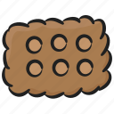 bakery food, biscuit, cracker, snack, sweet icon