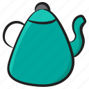 electric kettle, kitchen utensil, tea, tea kettle, teapot icon