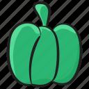 bell pepper, pepper, capsicum, sweet pepper, vegetable icon