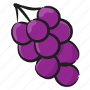 berries, edible, fruit, grapes, nutritious, vine fruit icon