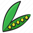 organic peas, legume, peas, healthy diet, vegetable icon