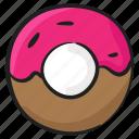 confectionery, dessert, donut, doughnut, food icon