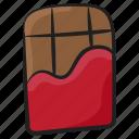 choco, chocolate, chocolate bar, confectionery, dessert, sweet icon