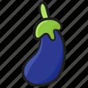 aubergine, brinjal, organic food, healthy diet, vegetable icon
