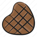 choco, chocolate, confectionery, dessert, heart chocolate, sweet icon