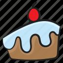 cake piece, cake slice, cream cake, dessert, sweet food icon