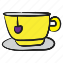 coffee cup, hot coffee, hot tea, tea, teacup icon