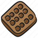 bakery food, biscuit, cookie, snack, waffle icon