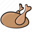 chicken leg, chicken meat, chicken roast, chicken thigh, drumsticks, food icon