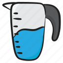 glass jug, glassware, juice jug, utensil, water container, water jug icon
