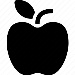 apple, food, fresh, fruit, leaf, organic icon