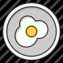 breakfast, egg, fried, omelette, yolk