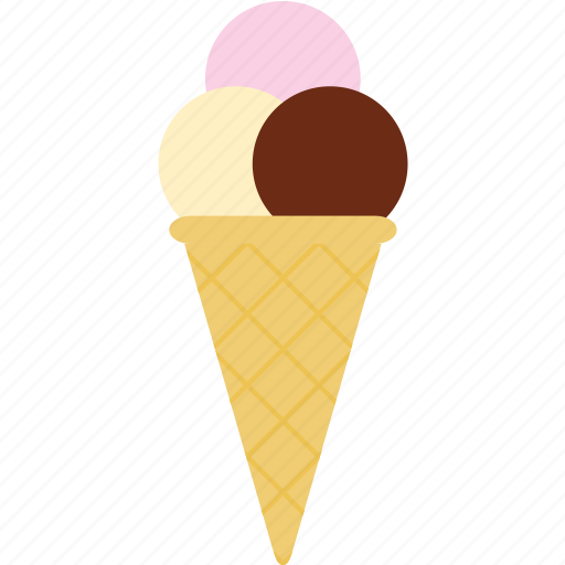 cone, cream, food, ice icon