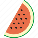 food, nice, watermelon icon