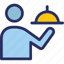 chef platter, food platter, food, food serving icon