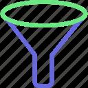 funnel, filter, sort, sorting