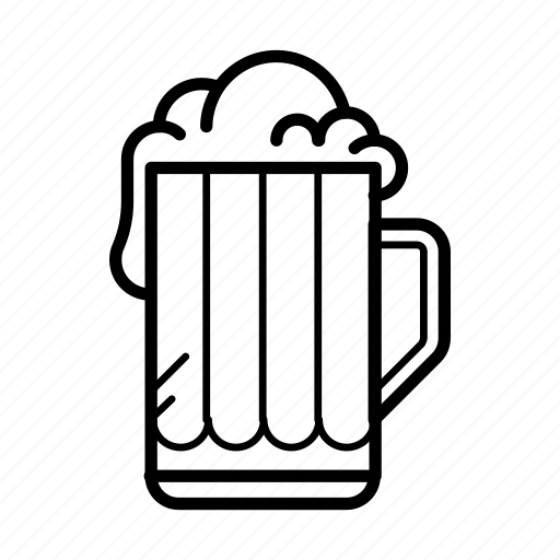 alcohol, beer, cup, drink, foam icon