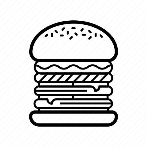burger, cheeseburger, eating, fast, food, hamburger icon
