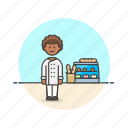 baguette, bakery, bread, chef, food, man, shop icon