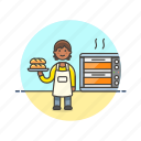 bakery, chef, food, bread, loaf, woman, bake icon