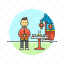 asian, chinese, food, male, restaurant icon