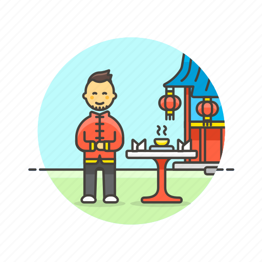asian, chinese, cuisine, food, man, restaurant, tea icon