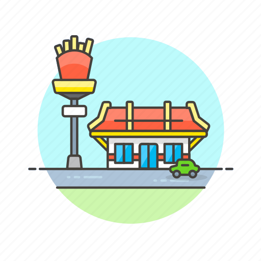 business, fast, fastfood, food, french, fries, junk, restaurant icon