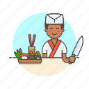 bento, box, chef, cook, food, japanese, man, sushi icon
