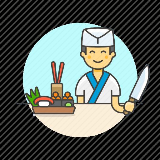 bento, box, chef, cook, food, japanese, man, sushi icon
