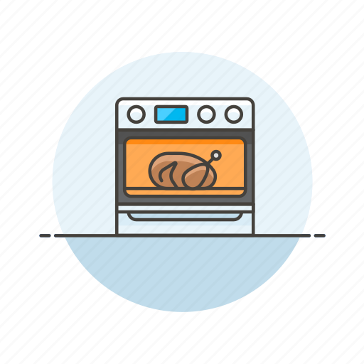 bake, cook, food, oven, roast, stove, thanksgiving, turkey icon