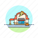 building, business, fast, food, junk, pizza, restaurant icon
