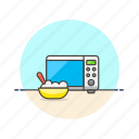 bowl, cook, fast, food, meal, microwave, rice icon