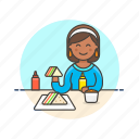 avatar, fast, food, meal, sandwich, snack, woman icon