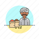 flavoring, food, gastronomy, man, merchant, restaurant, spice icon
