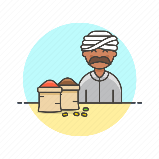 flavor, food, gastronomy, man, merchant, restaurant, spice icon